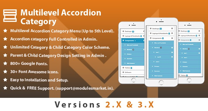 Multilevel Accordion Category Menu