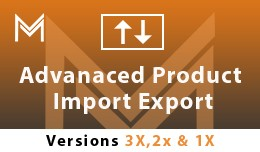 Advanced Product Import Export (1.5x , 2.x ,3.x)